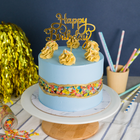 Cereal Fault Line Cake