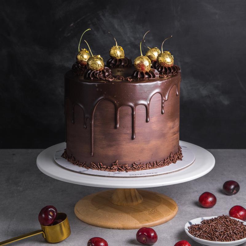 Chocolate Cherry Elegance Customised Cake