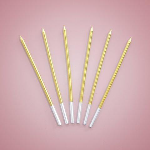 Metallic Gold Long Candle (NEW!)