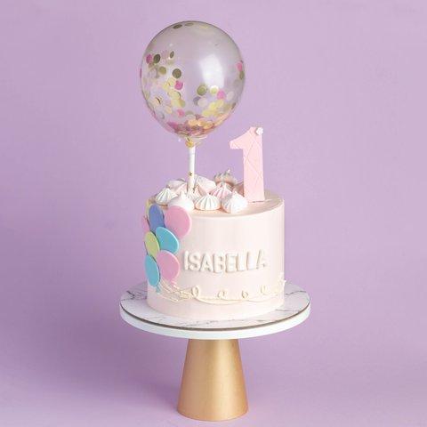 Pink Confetti Pastel Balloons